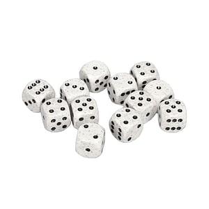 Chessex D6 Kockice – Prljavo Bijela