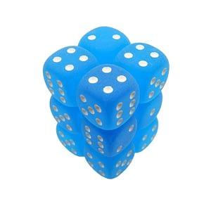 Chessex D6 kockice – Ledeno Plava